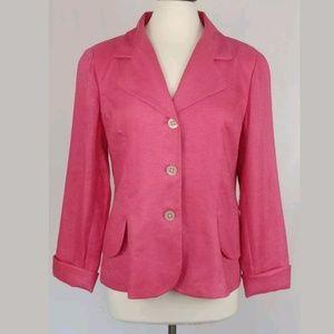 Coldwater Creek Jacket  Size 14  100% Linen